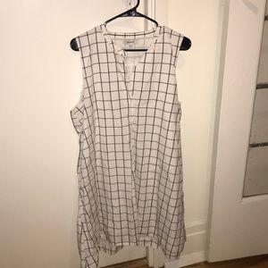 Madewell Sleeveless Grid Print Dress XL